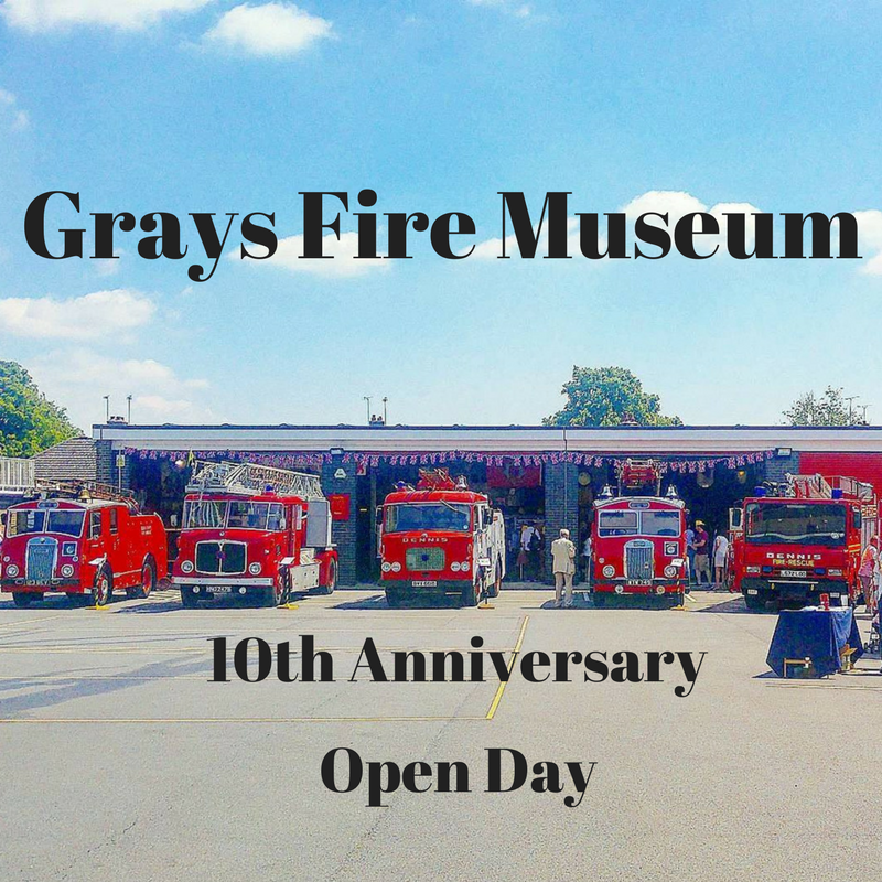 Grays fire museum 10th anniversary open day