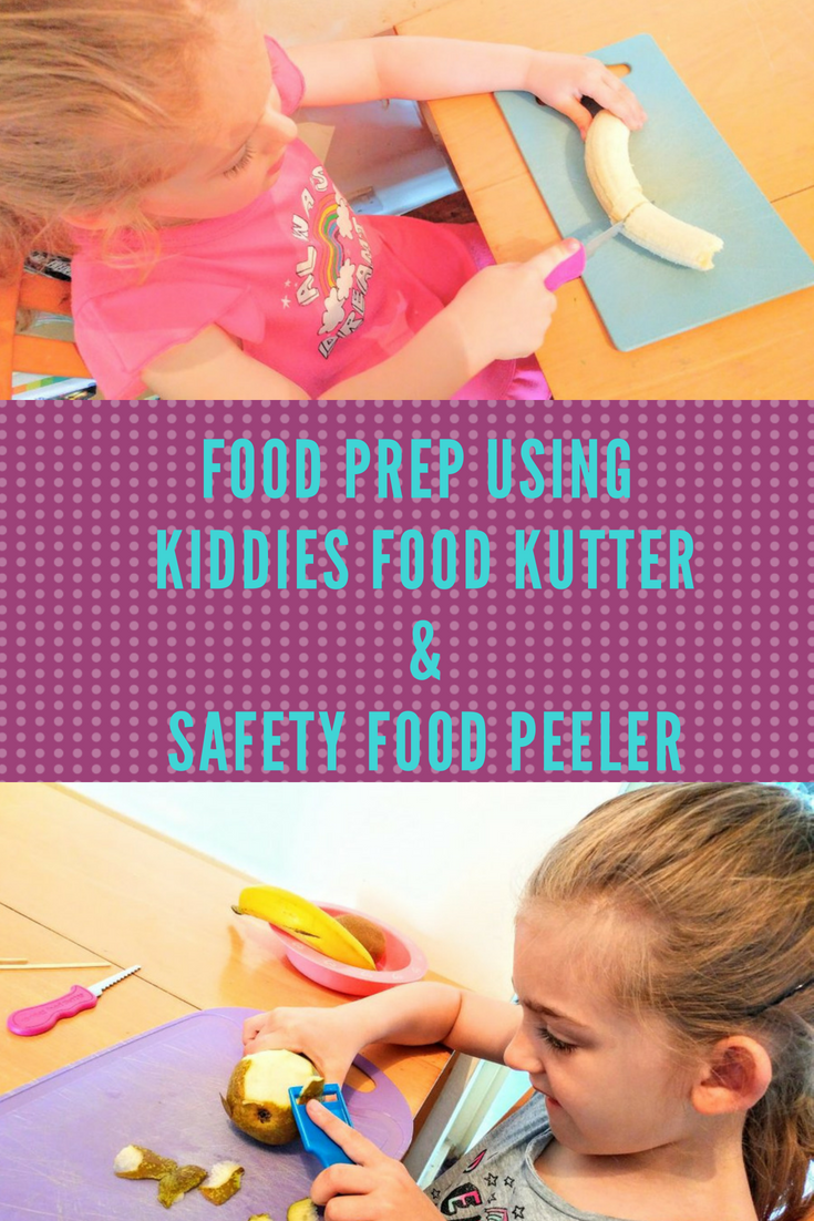Food Prep Using Kiddies Food Kutter & Safety Food Peeler