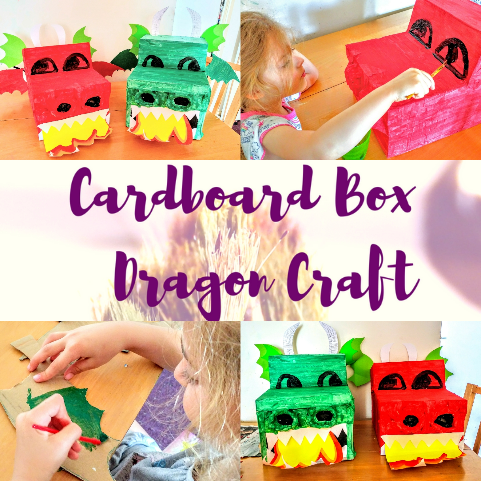 Cardboard Box Dragon Craft